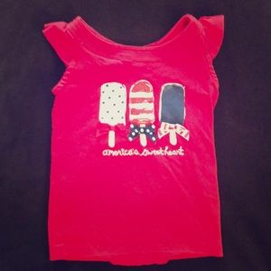 Gymboree girls Americana red top popsicles